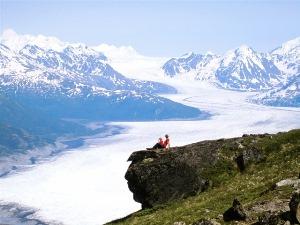 Über dem Gletscher
