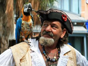 Pirat mit Papagei