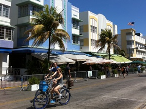 Art Deco Häuser in Miami Beach