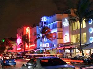 Am farbenfrohen Miami South Beach