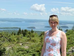 Küsten und Berge im Acadia