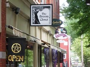 Shop von außen in Maine, Neuengland