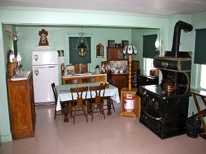 Küche einer Familie der Amish People