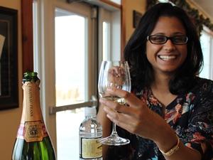 Leckere Weinprobe