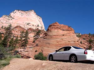 Auto am Zion Nationalpark
