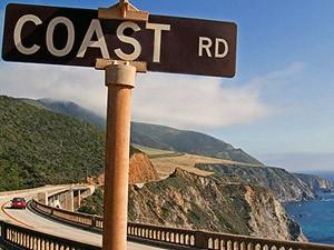 Über den Highway Nr. 1 die Küste Kaliforniens entlang