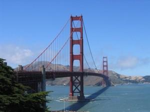 Blick auf die berühmte Brücke von San Francisco