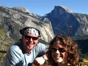 Ausblick über die Berge des Yosemite Nationalparks