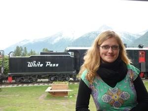 Blick auf die White Pass & Yukon Railway