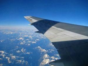 Ein letzter Blick aus dem Flugzeug