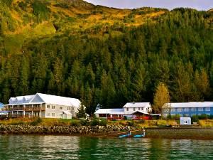 Die Lodge direkt am Wasser