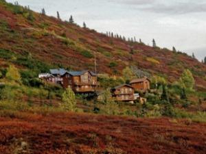 Außenansicht der Lodge Denali Nationalpark