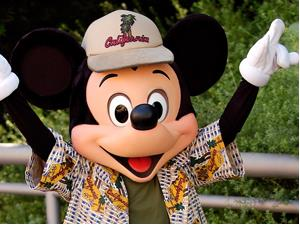 Mickey Mouse in Disneyland in Los Angeles