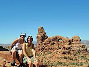 Cairns - kleine Steinhaufen im Arches Nationalpark