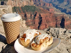 Lunch mit Ausblick am Grand Canyon