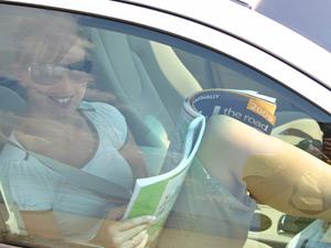 Im klimatisierten Fahrzeug