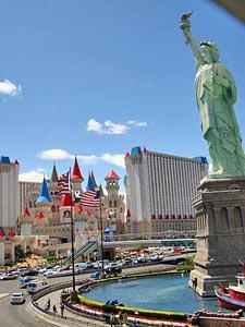 In Las Vegas zwischen Märchenschloss und Freiheitsstatue