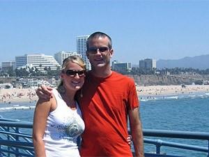 Strand von Los Angeles und Santa Monica Pier