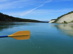 Mit dem Kanu über den Yukon River