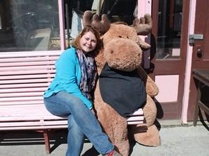 Kuscheln mit einem Moose