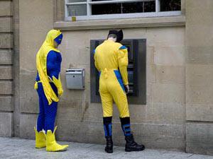 Abheben am Geldautomat