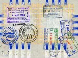 Ein Stempel im Reisepass