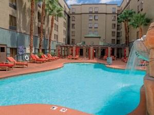 Der Pool im Budget Hotel in Las Vegas