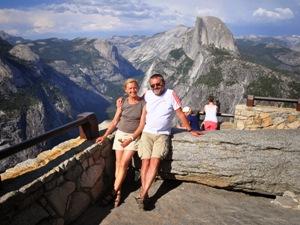 Ausblick auf den Halfdome des Yosemite Nationalparks