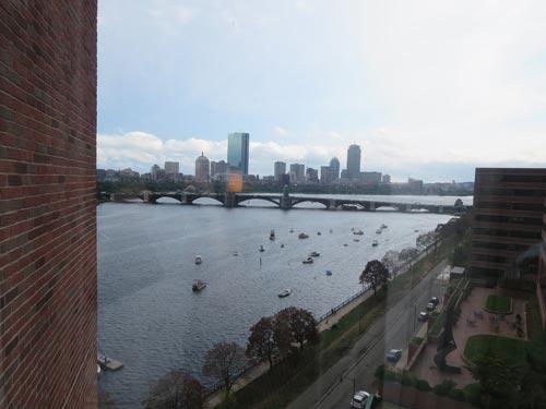 Ausblick auf das Wasser in Cambridge