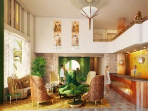 Die Lobby des Boutique Hotels in Miami