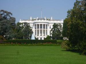 Außenansicht vom weißen Haus