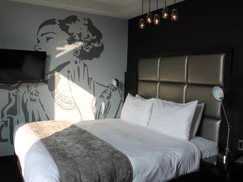 Stilvolles Zimmer des Boutique Hotels