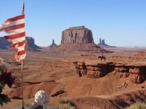 Ausblick auf die Felsen des Monument Valley