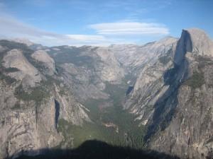 Blick über die Berge des Yosemite Tals