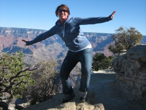 Am Rand des Grand Canyon