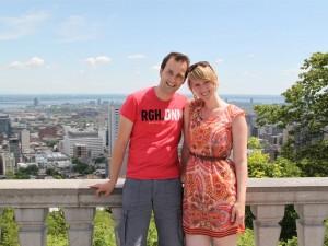 Reisende auf dem Mont Royal