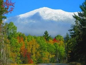 Herbstfarben am Mount Washington