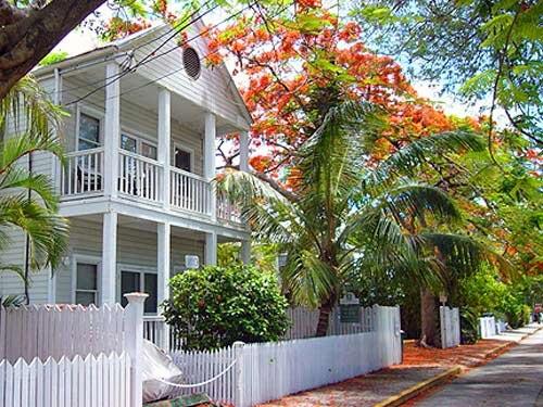 Außenansicht der Unterkunft in Key West