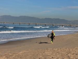 Surfer am Strand von Venice Beach