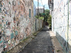 Bunte Straßen in Philadelphia