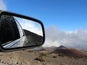 Fahrt in Richtung des Maunakea