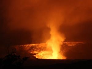 Ausbrauch des Kilaeau Vulkans