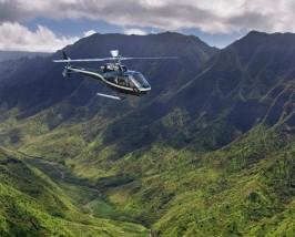 Mit dem Helikopter die Insel erkunden