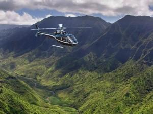 Helikopterflug über Hawaii