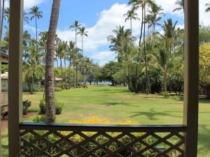 Der Garten der Unterkunft auf Kauai