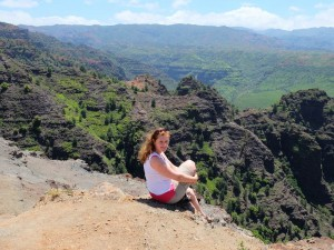 Reisende am Waimea Canyon