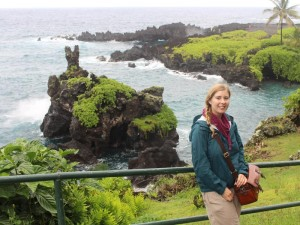 Reisende an der Road to Hana