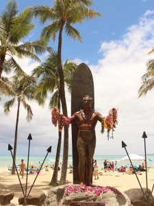 Palmen am Waikiki Beach