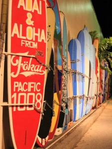 Surfbretter auf Kauai