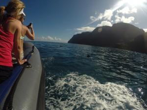 Ausflug mit dem Boot an die Napali Küste